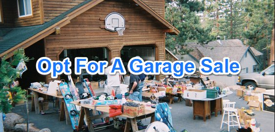 A Garage Sale Before Moving